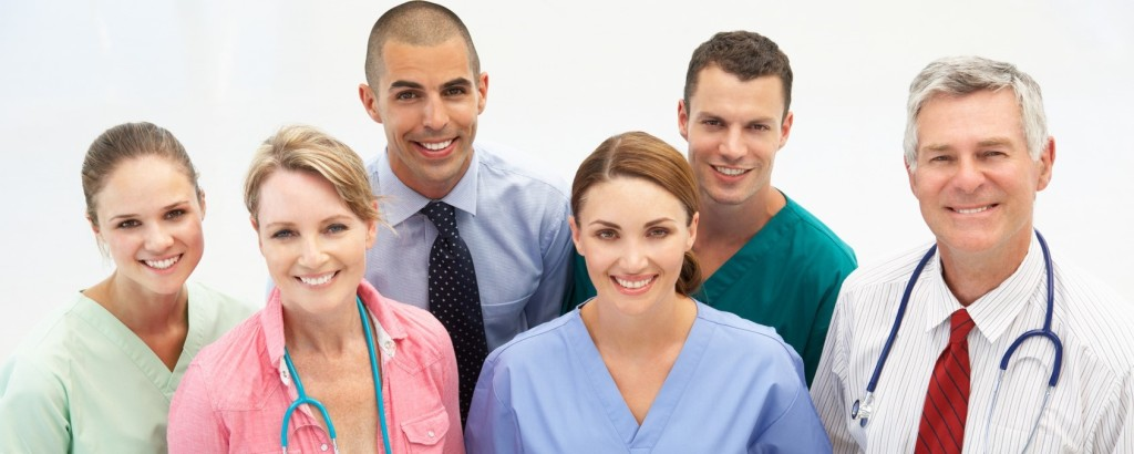 Mixed group of medical professionals